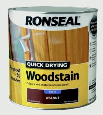 Ronseal Quick Drying Woodstain Satin 2.5L - Smoked Walnut